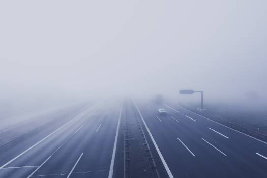 A road in the morning mist #386109