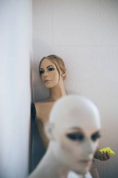 Lifelike mannequins in a storage room #386254