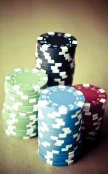 Close up of poker chips #386398