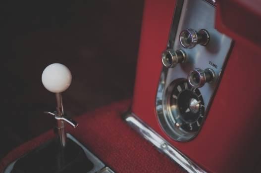 Interiors of classic red car #386510