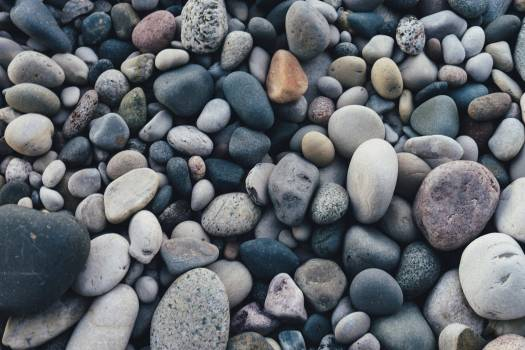 Pebbles and stones on a beach #386514