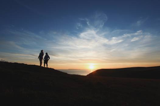 2 Person at Mountain Silhouette Photography #38657