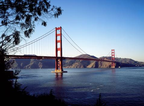 The Golden Gate Bridge. Original image from Carol M. Highsmith's America, Library of Congress collection.  #386740
