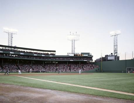 Fenway Park and the 'Green Monster,' Boston. Original image from Carol M. Highsmith's America, Library of Congress collection.  Free Photo
