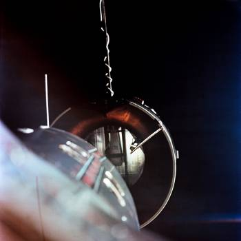 The Agena Target Docking Vehicle seen from the National Aeronautics and Space Administration. Original from NASA.  #386950