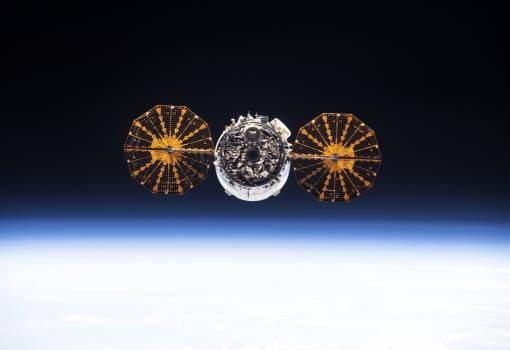 The Cygnus spacecraft. Original from NASA.  Free Photo