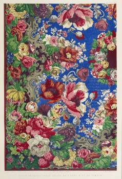 Block printed table cover from the Industrial arts of the Nineteenth Century (1851-1853) by Sir Matthew Digby wyatt (1820-1877). #387113