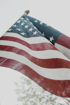 American Flag in Close Up Photography Free Photo