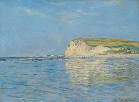 Low Tide at Pourville, near Dieppe (1882) by Claude Monet. Original from The Cleveland Museum of Art.  #387788