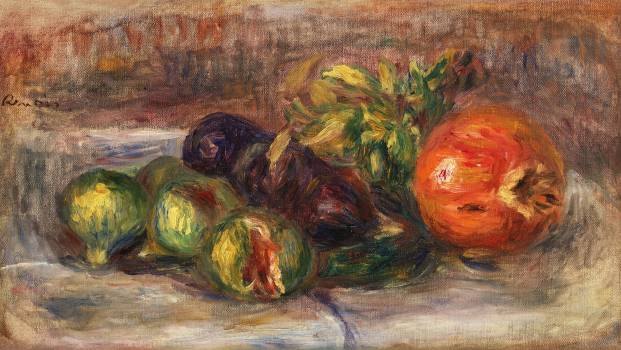 Pomegranate and Figs (Grenade et figues) (1917) by Pierre-Auguste Renoir. Original from Barnes Foundation.  #387824