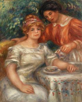 Tea Time (1911) by Pierre-Auguste Renoir. Original from Barnes Foundation.  Free Photo