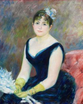 Madame Léon Clapisson (1883) by Pierre-Auguste Renoir. Original from The Art Institute of Chicago.  #387901