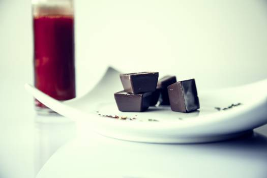Plate meal hot chocolate Free Photo
