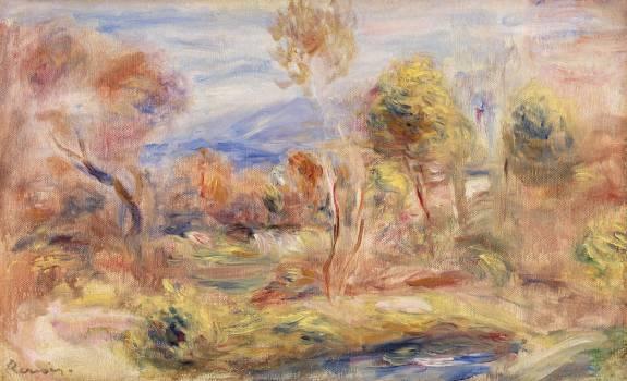 Glade (Clairière) (1909) by Pierre-Auguste Renoir. Original from Barnes Foundation.  #387937