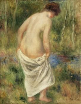 After the Bath (Après le bain) (1901) by Pierre-Auguste Renoir. Original from Barnes Foundation.  Free Photo