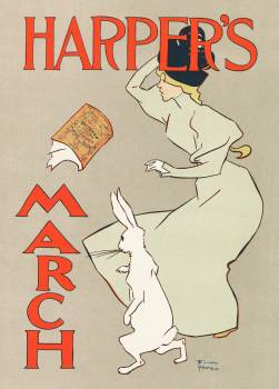Advertisement for a March issue of Harper's New Monthly Magazine by anonymous after Edward Penfield (1895 –1900). Original from The Rijksmuseum.  #387977