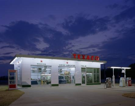 Vintage Texaco station in Arkansas (1980-2006) by Carol M. Highsmith. Original image from Library of Congress.  Free Photo