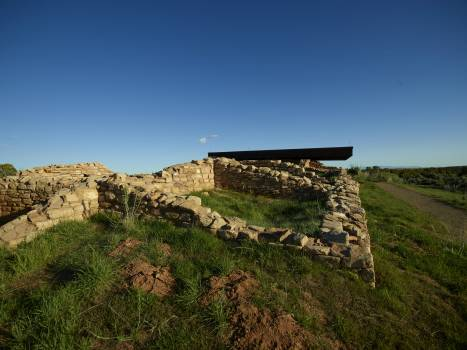 Wall ruins in the Canyon of the Ancients National Monument — one of the nation's newest national parks or monuments — in southwestern Colorado's Montezuma County. The archaeologically-significant landscape's 176,056 acres are overseen by the B #388403