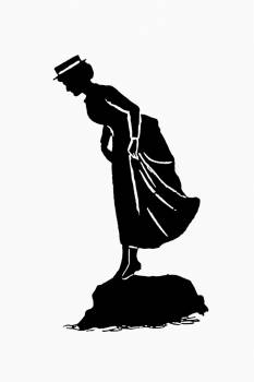 Vintage lady silhouette from Mr.Grant Allen's New Story Michael's Crag With Marginal Illustrations in Silhouette, etc published by Leadenhall Press (1893). Original from the British Library.  Free Photo
