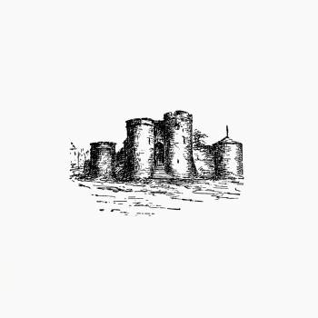King John's castle from Here and There Through Ireland... With Illustrations... Reprinted From the Weekly Freeman published by Freeman's Journal (1891). Original from the British Library.  #388814