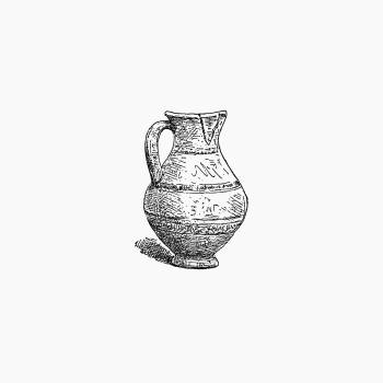 Antique pottery from Angouleme, History, Institutions And Monuments. L.P (1885). Original from the British Library.  #388840