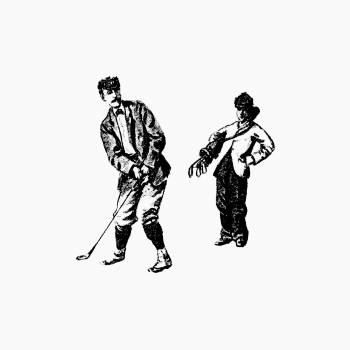 Vintage golfer from Won at the Last Hole. A Golfing Romance, Etc published by Cassell & Co. (1893). Original from the British Library.  Free Photo