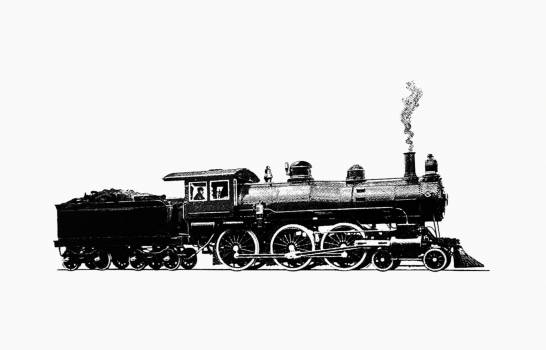 Modern type of locomotive from History Of Concord, New Hampshire, From The Original Grant In Seventeen Hundred And Twenty-Five To The Opening Of The Twentieth Century published by Rumford Press (1896). Original from the British Library.  #388917
