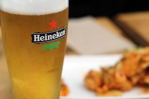 Filled Heineken Pilsner Glass #38891