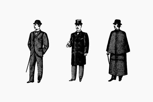 Gentleman fashion from Cook's Handbook For London. With Two Maps, Guide Books. London published by Thos. Cook & Son (1898). Original from the British Library.  #388966