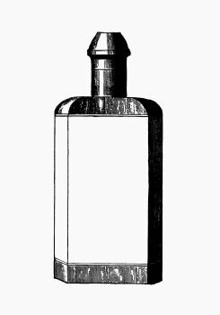 Cologne bottle from Jersey Illustrated, Etc, Appendix published by Jersey Commercial Association (1890). Original from the British Library.  #389017