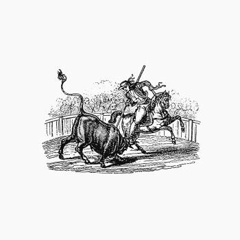 Bullfight from Paris-Neuf, Or Dream And Reality. Great Phantasmagoria (1861) published by Charles Simon Pascal Soullier. Original from the British Library.  Free Photo