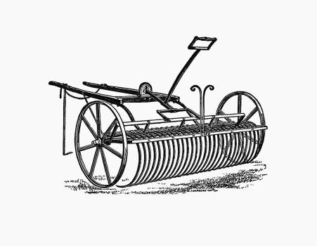 Howard's patent lever horse rake from The People's History Of Cleveland, And Its Vicinage, Etc. Pt. 1-4 published by Tweddell & Sons (1872). Original from the British Library.  Free Photo