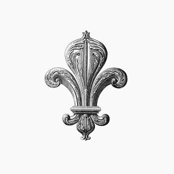 Fleur de lys of the board room from Artistic And Historical Guide At The Palais De Fontainebleau, Etc. (1889). Original from the British Library.  Free Photo