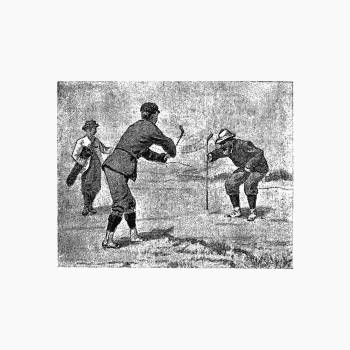 Golfer from Won At The Last Hole. A Golfing Romance published by Cassell & Co. (1893). Original from the British Library.  #389199
