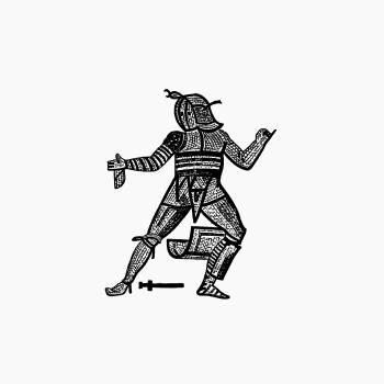 Gladiator from Les Chroniqueurs de l'Histoire de France Depuis les Origines Jusqu'au XVIe Siècle (1884) published by Henriette de Witt. Original from the British Library.  #389229