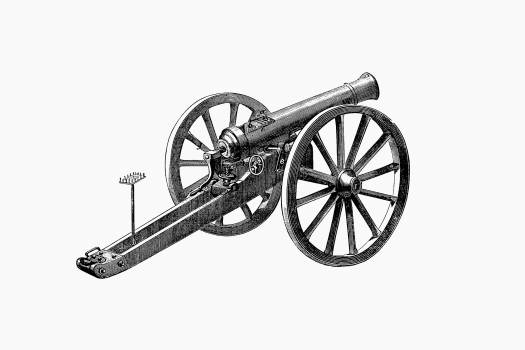 Cannon from Germany and France: a popular history of the Franco-German War (1884) published by Elihu Rich. Original from the British Library.  Free Photo