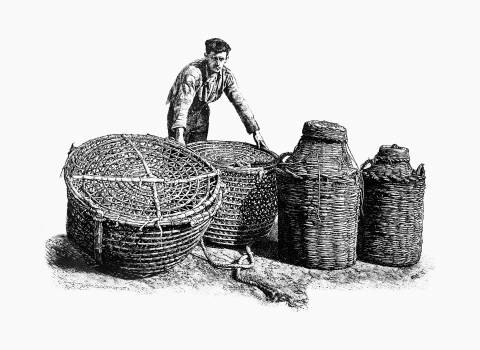 Fisherman from The Balearic Islands illustrated by Louis Salvator (1897). Original from the British Library.  #389239