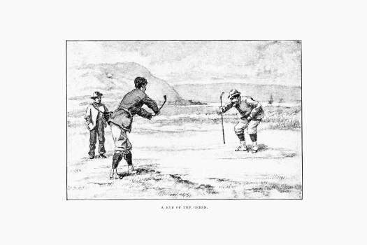 Vintage golfers from Won at the Last Hole. A Golfing Romance, Etc published by Cassell & Co. (1893). Original from the British Library.  #389262