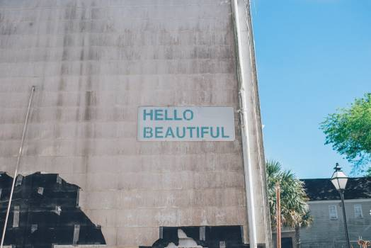 Hello Beautiful Sign Free Photo