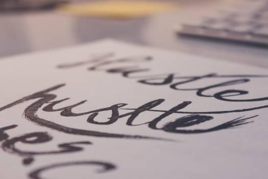 Pen calligraphy hand lettering hustle #38967
