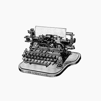 Vintage Victorian style retro typewriter engraving. Original from the British Library.  Free Photo