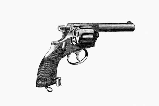 Vintage Victorian style pistol engraving. Original from the British Library.  #390252