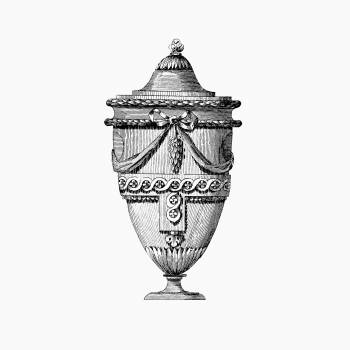 Vintage Victorian style urn engraving. Original from the British Library.  #390264