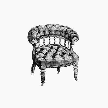 Vintage Victorian style chair engraving. Original from the British Library.  #390265