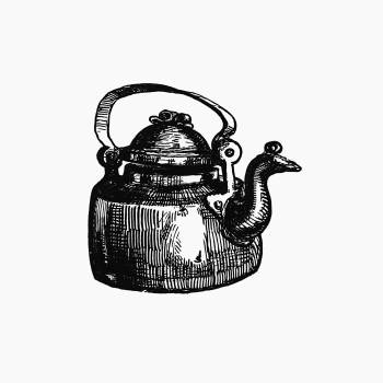 Vintage European style kettle engraving from Frost and Fire. Natural engines, tool-marks and chips. With sketches taken at home and abroad by John Francis Campbell (1865). Original from the British Library.  Free Photo