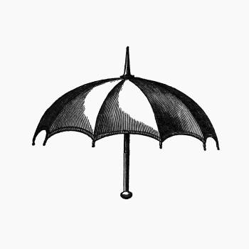 Vintage European style umbrella engraving from Bentley's Ancient and Modern History of Worcestershire; to which is added an alphabetical list of 1,500 of the nobility, gentry, clergy, and other inhabitants by Joseph Bentley (1842). Original from the Briti Free Photo