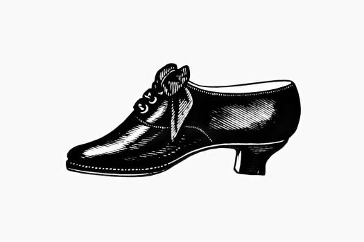 Vintage Victorian style leather shoe engraving. Original from the British Library.  Free Photo