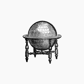 Vintage European style atlas engraving. Original from the British Library.  Free Photo