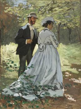 Bazille and Camille (1865) by Claude Monet. Original from the National Gallery of Art.  Free Photo