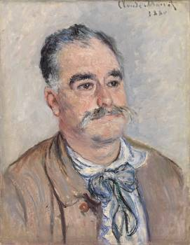 Portrait of Monsieur Coquette, Father (1880) by Claude Monet. Original from the Barnes Foundation.  #390641